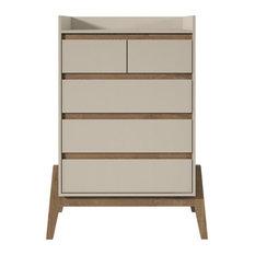 Essence 48.23-inch Tall Dresser With 5 Full Extension Drawers In Off White