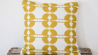 Mustard Sparrow Cushion