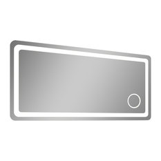 Innoci Usa   Electric LED Mirror, Rounded Edges, Magnifying Cosmetic Light,  36
