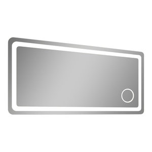 Electric LED Mirror, Rounded Edges, Magnifying Cosmetic Light, 36  X  32