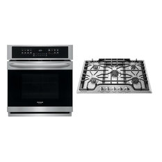 """2 Piece Kitchen Appliances Package with FGEW2766UF 27"""" Electric Single Wall Oven"""