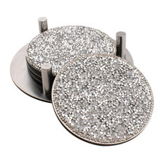 Sparkles Home Luminous Rhinestone Coaster Set