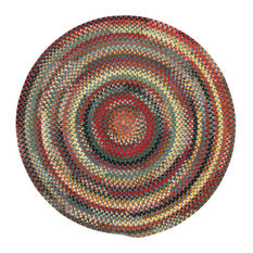 Capel Rugs - Eaton Braided Round Rug, Blue, 3' - Area Rugs
