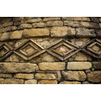 Pre Inca Designs Stone Wall Wallpaper Wall Mural, Self Adhesive Part 62
