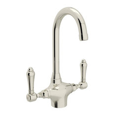Rohl Bar/Food Prep Faucet with Single-Lever Handle, Polished Nickel