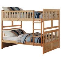 Brighton Full Over Full Bunk Bed, Natural Pine