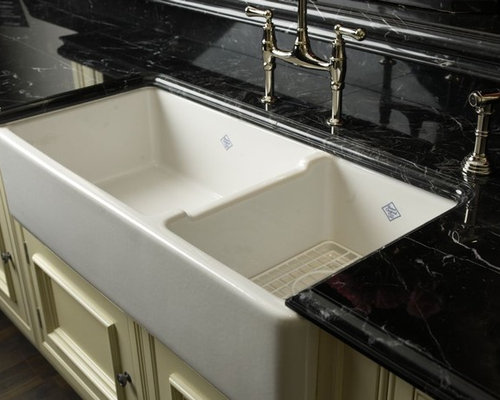 Rohl Shaws Original 1 1 2 Bowl Fireclay Apron Kitchen Sink Kitchen Sinks