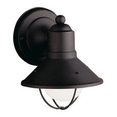 Kichler 9021BK Outdoor 1-Light Wall Sconce, Black, Painted