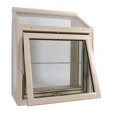 Meadow View Garden Window Tan, 46x42, Low-E Insulated Glass