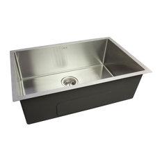 CNOX GOURMET Satin Handcrafted Stainless Steel Kitchen Sink (32x20x9 in)