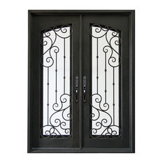 Bay - Torrington Wrought Iron Door, Aged Bronze Patina, Right-Hand Swing - Front Doors
