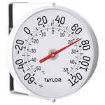 Taylor Precision Products - Taylor Springfield Weather Resistant Thermometer, White - Highlights: