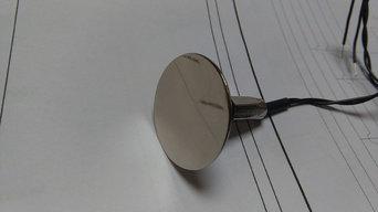 Wall Temperature Sensor With Polished Chrome Finish