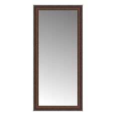 """19""""x40"""" Custom Framed Mirror, Embossed Brown"""