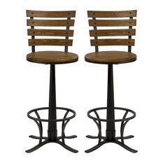 Hillsdale Furniture Westview Swivel Bar Stool Dark Silver Set Of 2
