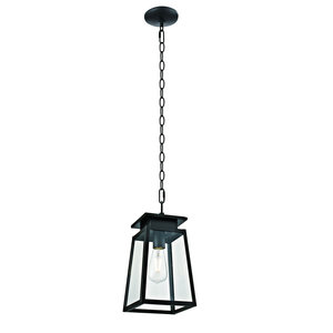 Citadel 1-Light Transitional Outdoor Pendant, Textured Dark Bronze Finish