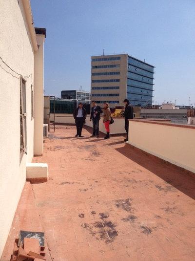 Vistia privada: Una terraza con piso en Barcelona