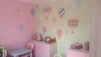 Neutral Hot Air Balloons & Kites Wall Art Project