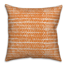 "Autumn Herringbone 20""x20"" Throw Pillow"
