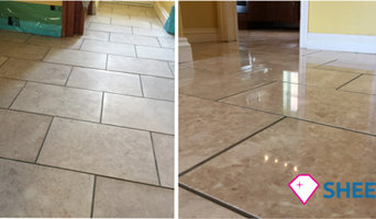 Polished marble floor restoration