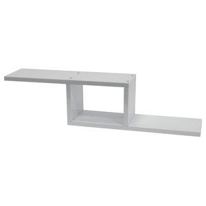 Zigzag Wall Mounted 70 cm Floating Display Shelf, White