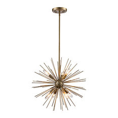 Collina 7-Light Pendant, Antique Silver Leaf