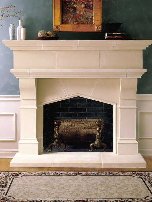 Lexington Cast Stone Fireplace Mantel - Indoor Fireplaces - Cast Stone Fireplace Mantels