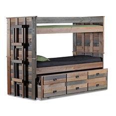 Sleep and Play USA - Morgan Creek Combo Bunk Bed, Twin Over Twin - Bunk Beds