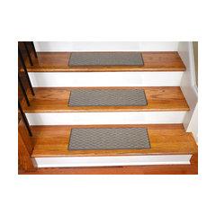 Indoor Or Outdoor Non Slip Carpet Stair Treads, Seashore, Set Of 15, Beige