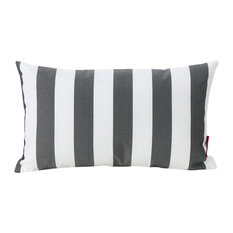 GDF Studio La Mesa Indoor Striped Rectangular Pillow, Black, Single