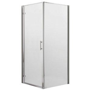 Koncept Hinged Shower Door, 900 mm, 760mm Side Panel