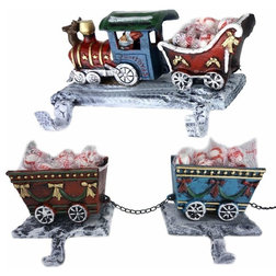 Traditional Christmas Stockings And Holders by Lulu Decor, Inc.