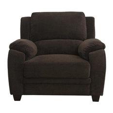 Coaster Fabric Chair Chocolate