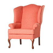 Crawford Wingback Chair, Coral, 28x35x42