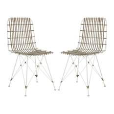 Minerva Dining Chairs Set Of 2 White