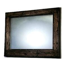rustic bathroom mirrors. Renewed Decor and Storage  Herringbone Stained Vanity Mirror Jacobean 24 x30 Rustic Bathroom Mirrors Houzz
