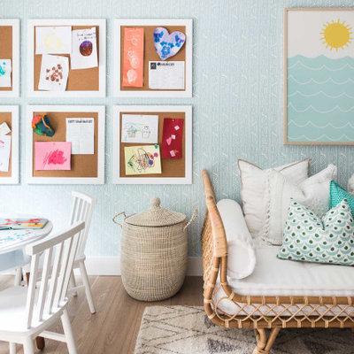 Inspiration for a coastal kids' room remodel in Orange County