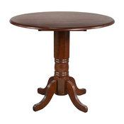 Round Drop Leaf Pub Table Chestnut
