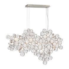 Trento Clustered Glass 12-Light Oval Chandelier