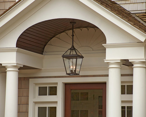 Shingle style exterior lighting project london lantern porch light 2 outdoor hanging lights aloadofball Gallery