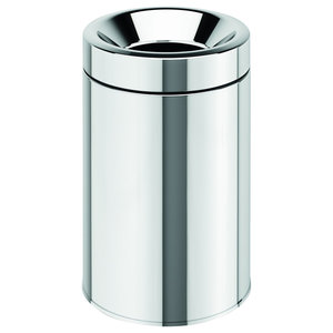 Round Extra Small Coutertop Wastebasket With Swing Lid