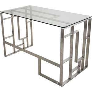 Coaster Contemporary Computer Desk With Chrome Legs