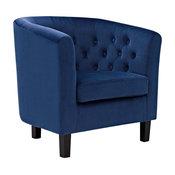 Modern Contemporary Urban Design Living Lounge Room Armchair, Navy Blue, Fabric