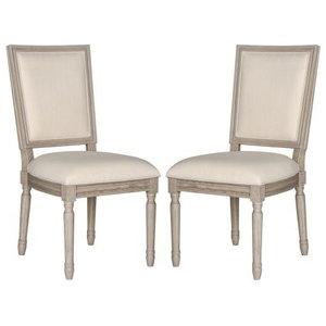 Safavieh FOX6229-SET2 Buchanan 19 Inch Wide Rubberwood Accent Chairs (Set of 2)