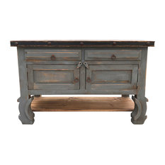 "Rancho Collection - San Nicolas 48"" Rustic Vanity, Vintage Gray - Bathroom Vanities and"