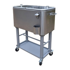 20-Gallon Party Cooler Cart with Insulated Basin