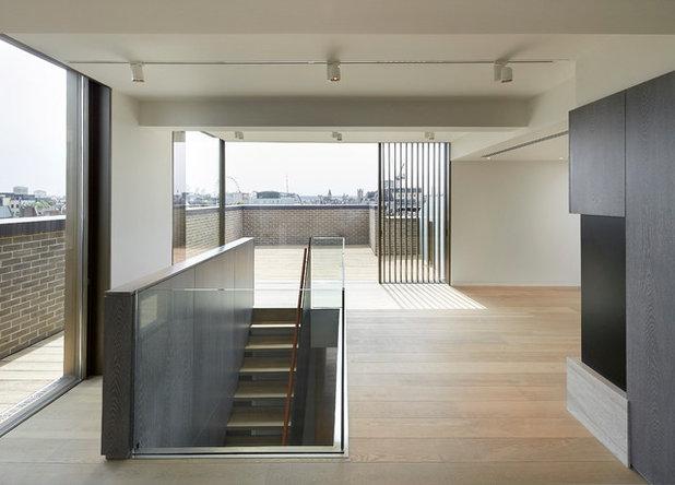 Contemporary Corridor by Waxed Floors