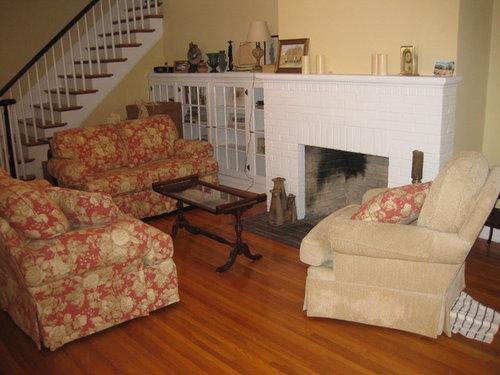 long narrow livingroom fireplace not centered. Black Bedroom Furniture Sets. Home Design Ideas