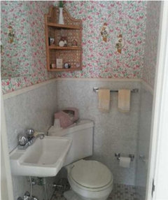 i think a wall hung toilet would be ideal to open up this space a little more