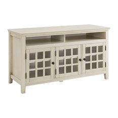 Largo Turquoise Media Cabinet White